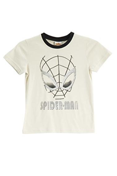 Spider-Man Spider Man Lisanslı Duman Mavisi Erkek Çocuk T-Shirt Bej